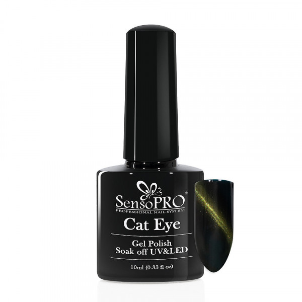 Poze Oja Semipermanenta Cat Eye SensoPro 10ml - #043 Lucky Green