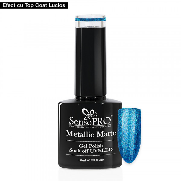 Poze Oja Semipermanenta Metallic Matte SensoPRO 10ml, Infinite Blue #002
