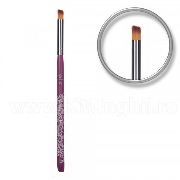 Poze Pensula one stroke, nail art Purple Lace