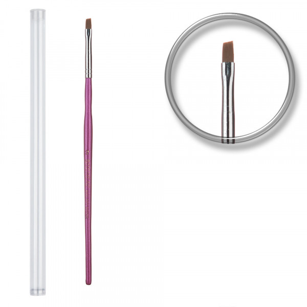 Poze Pensula unghii aplicare gel UV nr.2 cu etui tubular - Pale Lavender