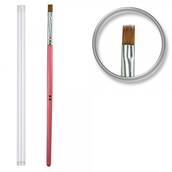 Poze Pensula unghii aplicare gel UV nr.8 cu etui tubular - Cotton Candy