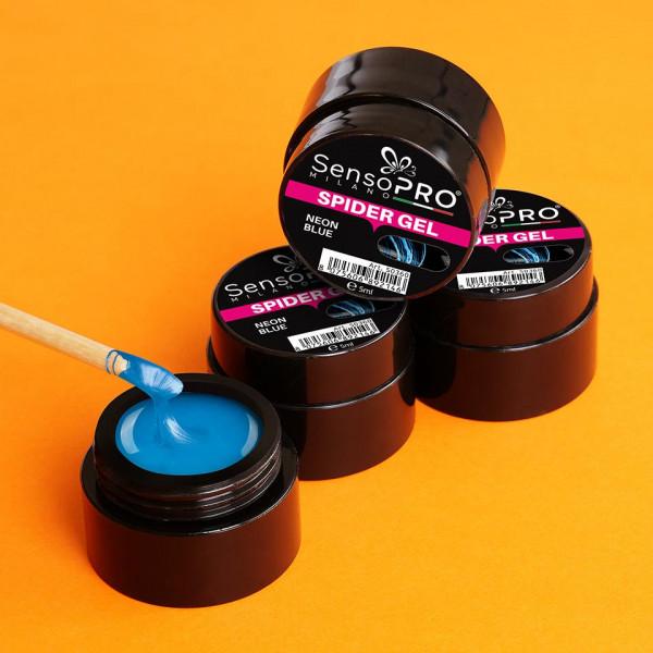 Poze Spider Gel SensoPRO Neon Blue, 5 ml