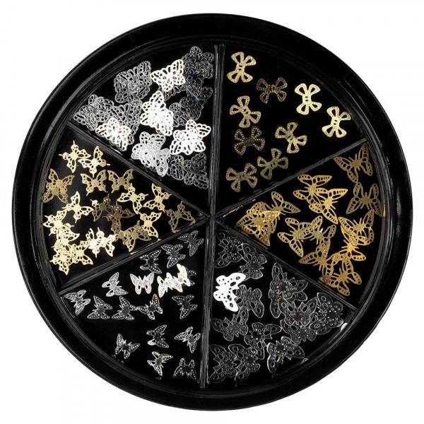 Poze Strasuri Unghii LUXORISE, Dreamy Butterfly - 6 modele