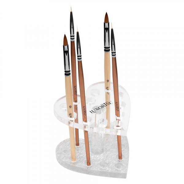 Poze Suport pensule unghii si ustensile manichiura Silver Heart LUXORISE, 12 sloturi