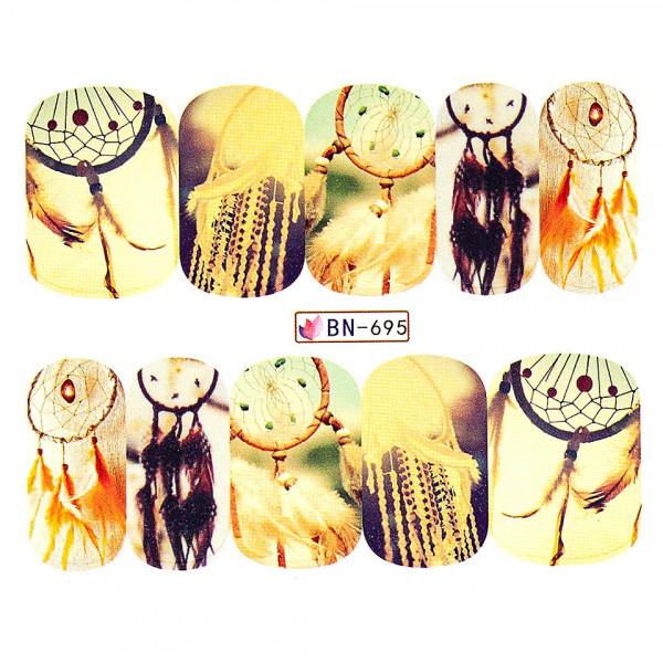 Poze Tatuaj unghii LUXORISE, Dream Catcher BN-695