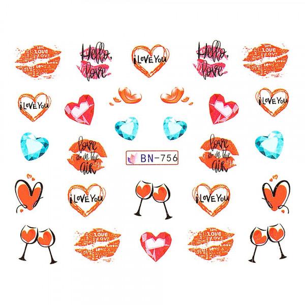 Poze Tatuaj unghii LUXORISE, Love BN-756