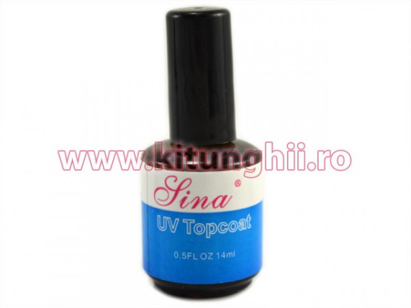 Poze Top Coat Unghii UV Gel SINA 14 ml - Gel de Finish Topcoat
