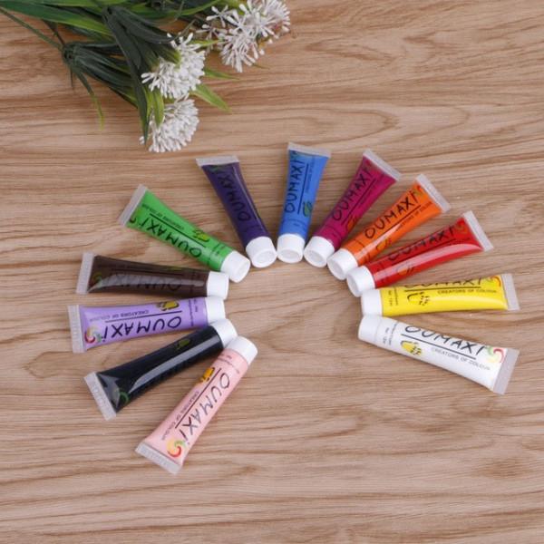 Poze Vopsele Acrilice Colorate - Set 12 bucati