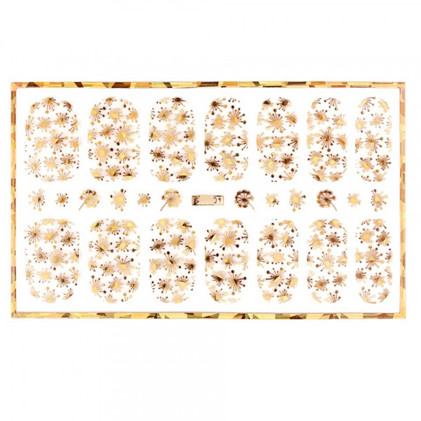 Poze Abtibild unghii cu modele aurii H001