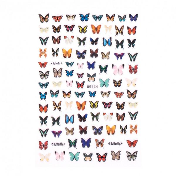 Poze Abtibilduri unghii SensoPRO Magic Butterfly, model WG234