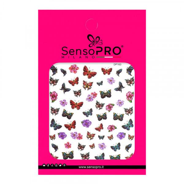 Poze Abtibilduri unghii SensoPRO Milano Butterfly, model DP163