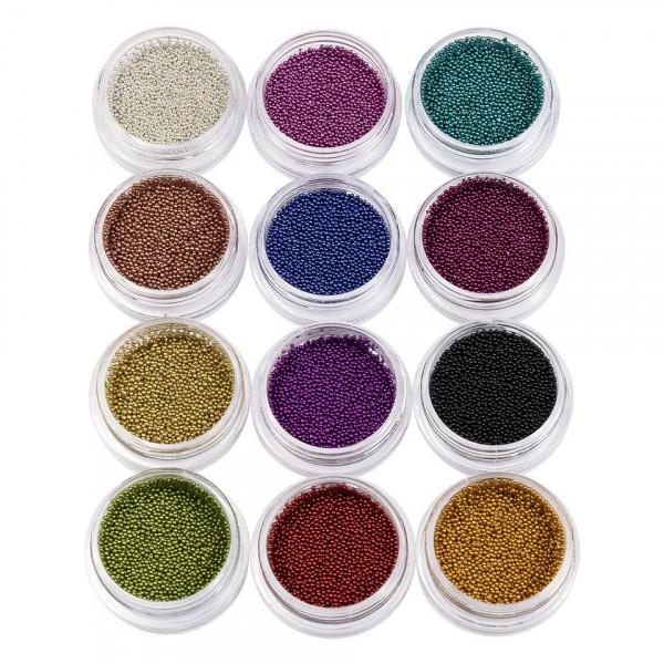 Poze Caviar unghii set 12 bucati
