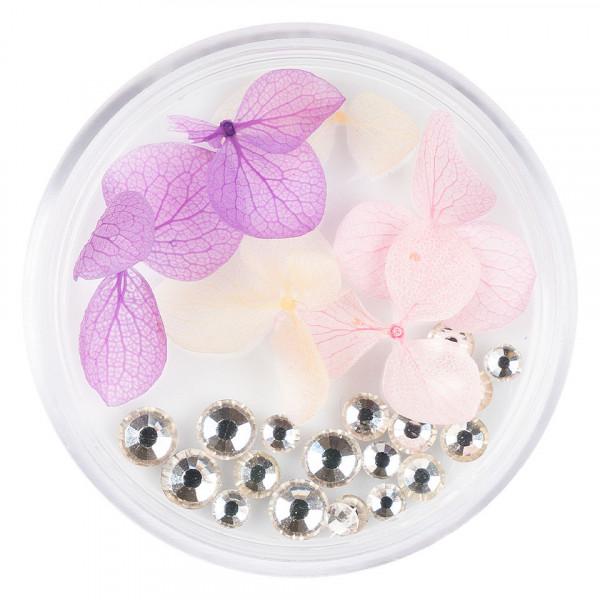 Poze Flori Uscate Unghii LUXORISE cu cristale - Floral Fairytale #08