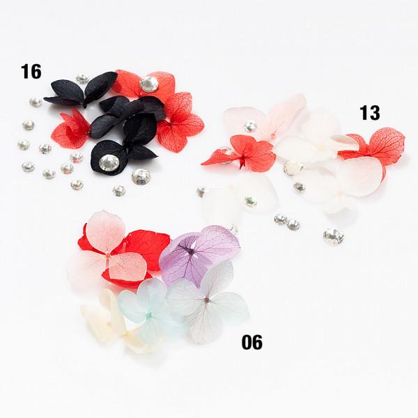 Poze Flori Uscate Unghii LUXORISE cu cristale - Floral Fairytale #13