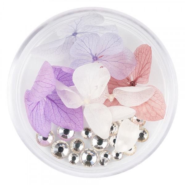 Poze Flori Uscate Unghii LUXORISE cu cristale - Floral Fairytale #18