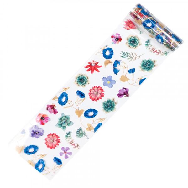 Poze Folie de Transfer Unghii LUXORISE #366 Flower Mania