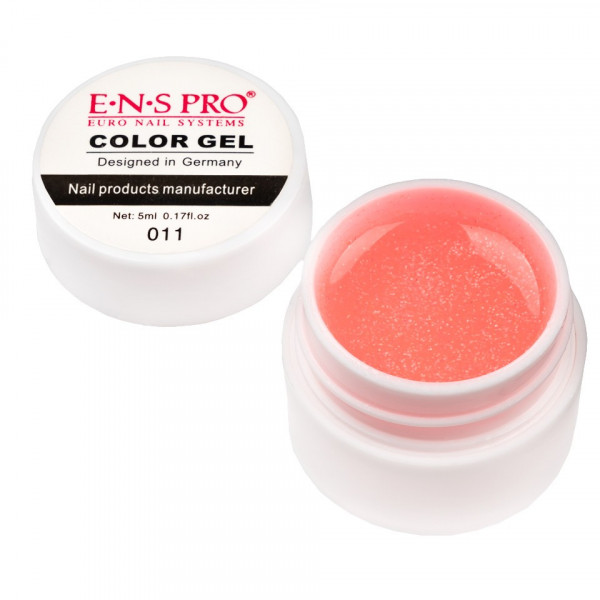 Poze Gel UV Color cu Sclipici ENS PRO #011 - Coral Simple