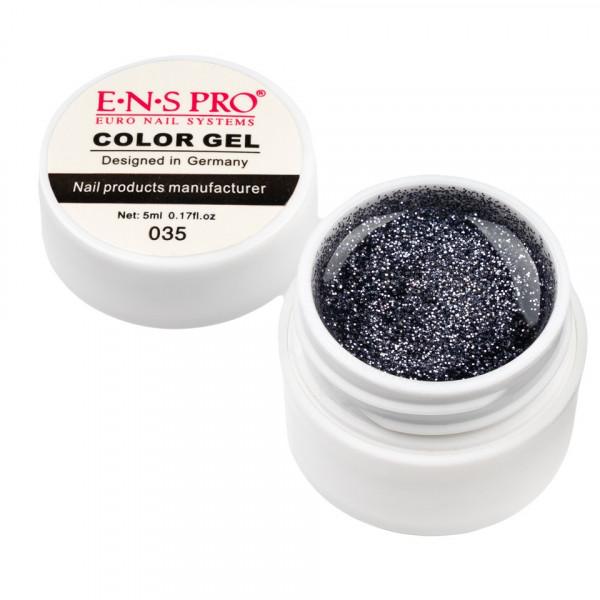 Poze Gel UV Color cu Sclipici ENS PRO #035 - Charming Darkness
