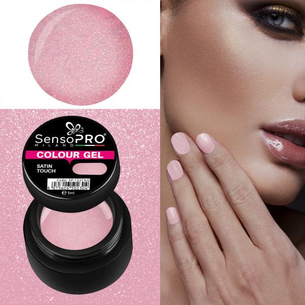 Poze Gel UV Colorat Satin Touch 5ml, SensoPRO Milano