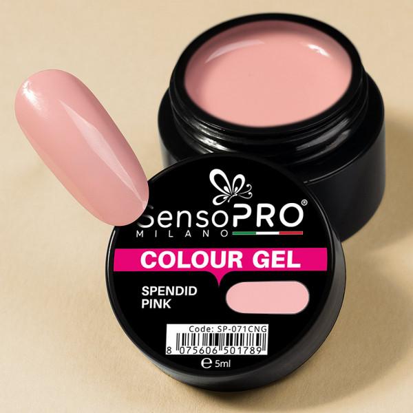Poze Gel UV Colorat Spendid Pink 5ml, SensoPRO Milano