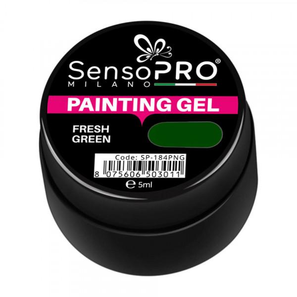 Poze Gel UV Pictura Unghii Fresh Green 5ml, SensoPRO Milano