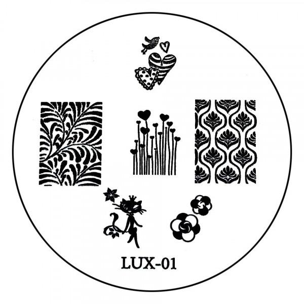 Poze Matrita Metalica Stampila Unghii LUX-01 - Nature