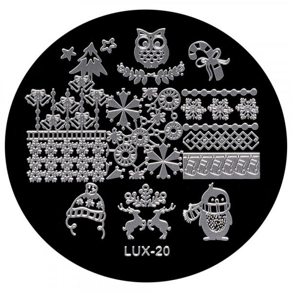 Poze Matrita Metalica Stampila Unghii LUX-20 - Winter's Tale