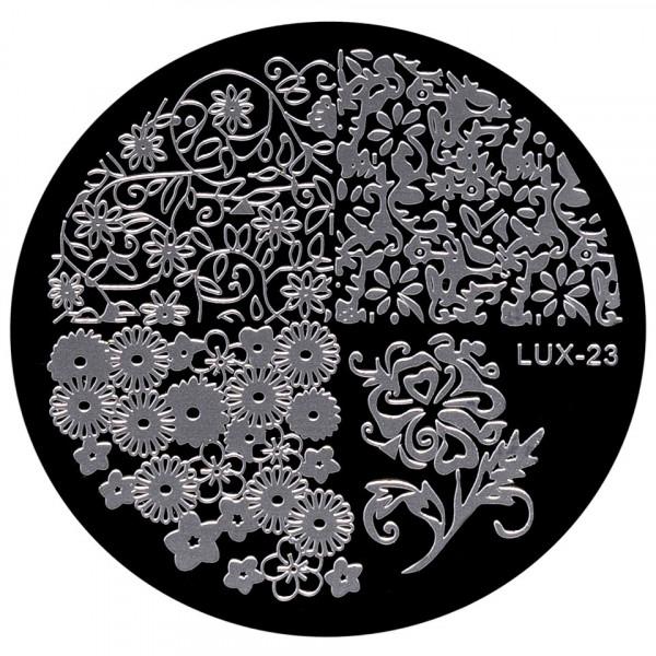 Poze Matrita Metalica Stampila Unghii LUX-23 - Nature