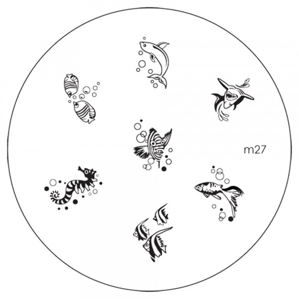 Poze Matrita Metalica Stampila Unghii M27 - Nature
