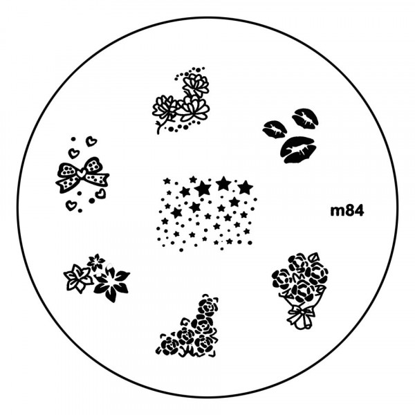 Poze Matrita Metalica Stampila Unghii M84 - Nature
