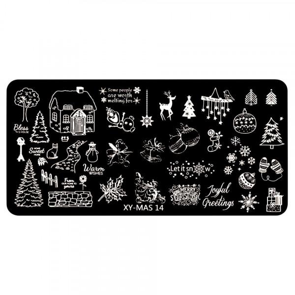Poze Matrita Unghii XY-MAS 14 Merry Christmas