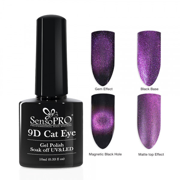 Poze Oja Semipermanenta 9D Cat Eye #03 Bellatrix - SensoPRO 10 ml