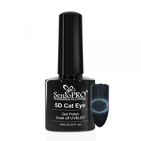 Poze Oja Semipermanenta Cat Eye Gel 5D SensoPRO 10ml, #05 Milky Way