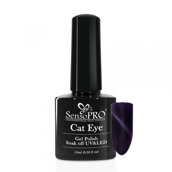 Poze Oja Semipermanenta Cat Eye SensoPRO 10ml - #024 DeepPurple