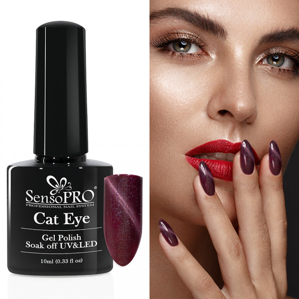 Poze Oja Semipermanenta Cat Eye SensoPRO 10ml - #037 Precious Purple