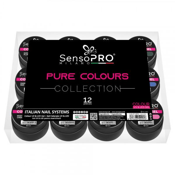Poze Set 12 Geluri UV Colorate Pure Colours Collection, SensoPRO Milano