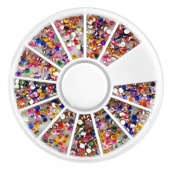 Poze Strasuri Unghii Circulare Mici Diverse Culori - Carusel Strasuri
