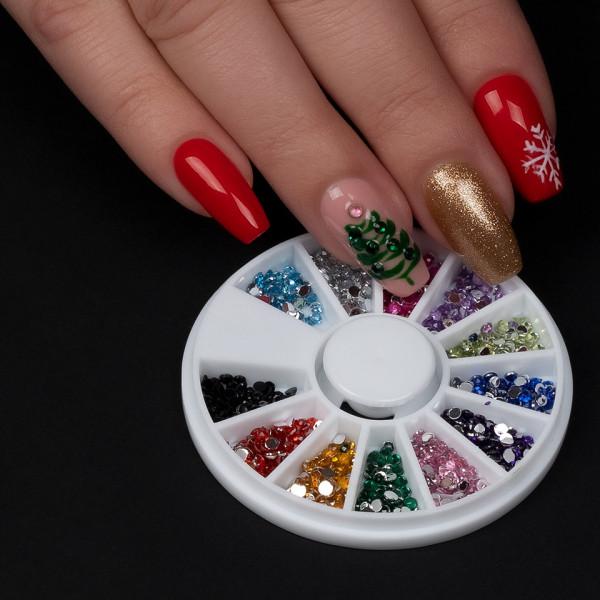 Poze Strasuri Unghii Glamour Nails, SensoPRO Milano - Carusel Strasuri