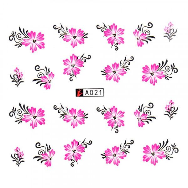 Poze Tatuaj unghii A021 flori