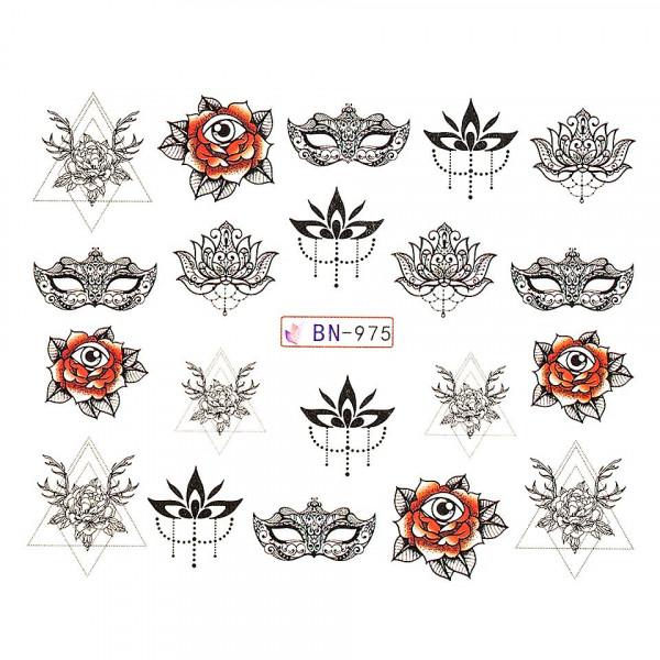 Poze Tatuaj unghii LUXORISE, Fantasy BN-975