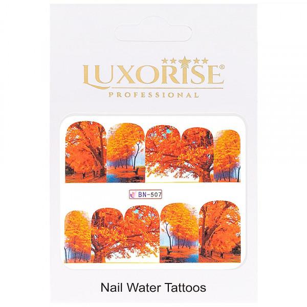 Poze Tatuaj unghii LUXORISE, GoldenFall BN-507