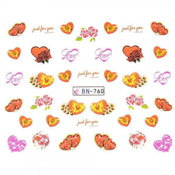 Poze Tatuaj unghii LUXORISE, Love BN-760
