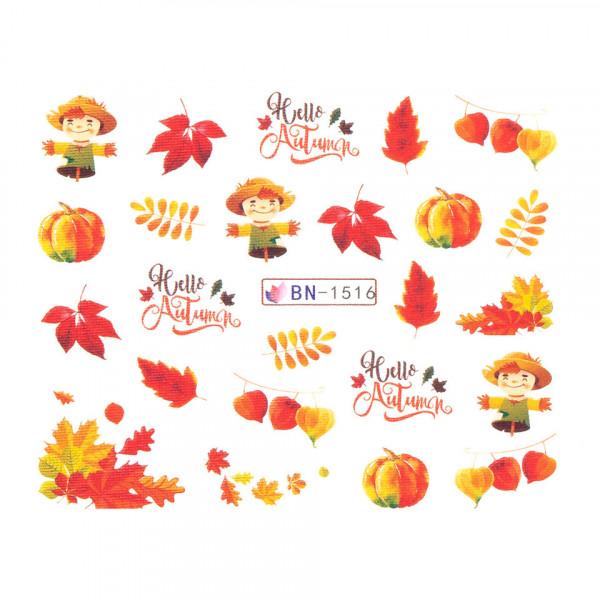 Poze Tatuaj unghii SensoPRO Autumn Challenge, model BN-1516
