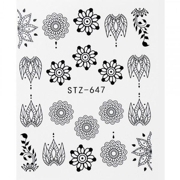 Poze Tatuaj unghii STZ-647 flori