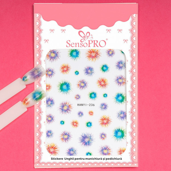 Poze Abtibilduri unghii SensoPRO Art in Bloom, model HANYI 236
