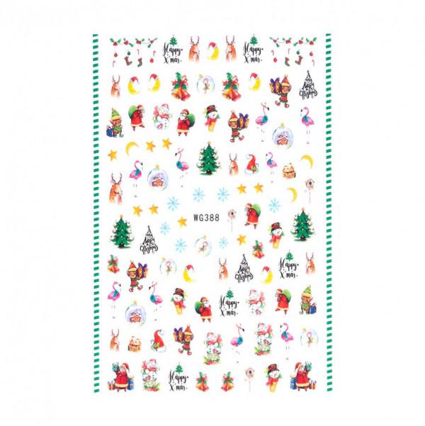 Poze Abtibilduri unghii SensoPRO Christmas, model WG388