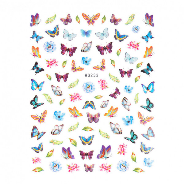 Poze Abtibilduri unghii SensoPRO Magic Butterfly, model WG233