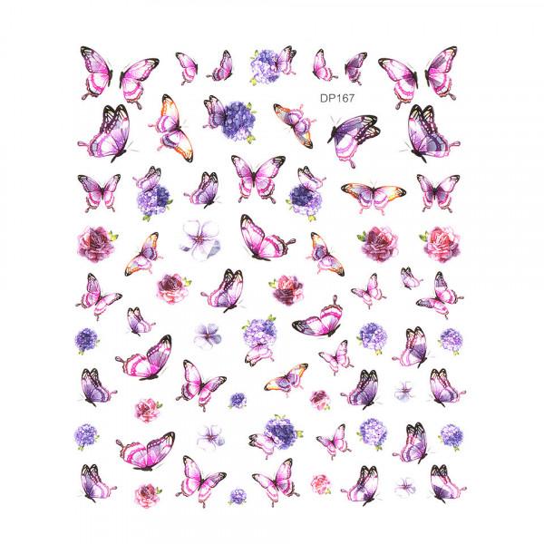 Poze Abtibilduri unghii SensoPRO Milano Butterfly, model DP167