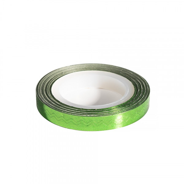 Poze Banda Decor Unghii - Green Waves Line