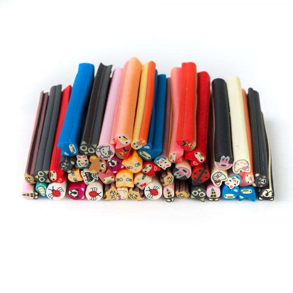 Poze Betisoare Fimo Happy Animal Color - Set 50 Bucati